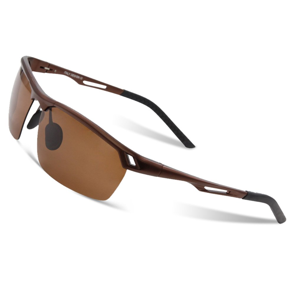 DUCO Sports Style Polarised Al-Mg Metal Frame Driving Sunglasses For Men 8550 UK-8550-04