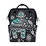 FENNEN Travel Backpack School Laptop Backpack Polka Dot Animal Elephant Large Capacity Shoulder Diaper Bag for Womens Mens