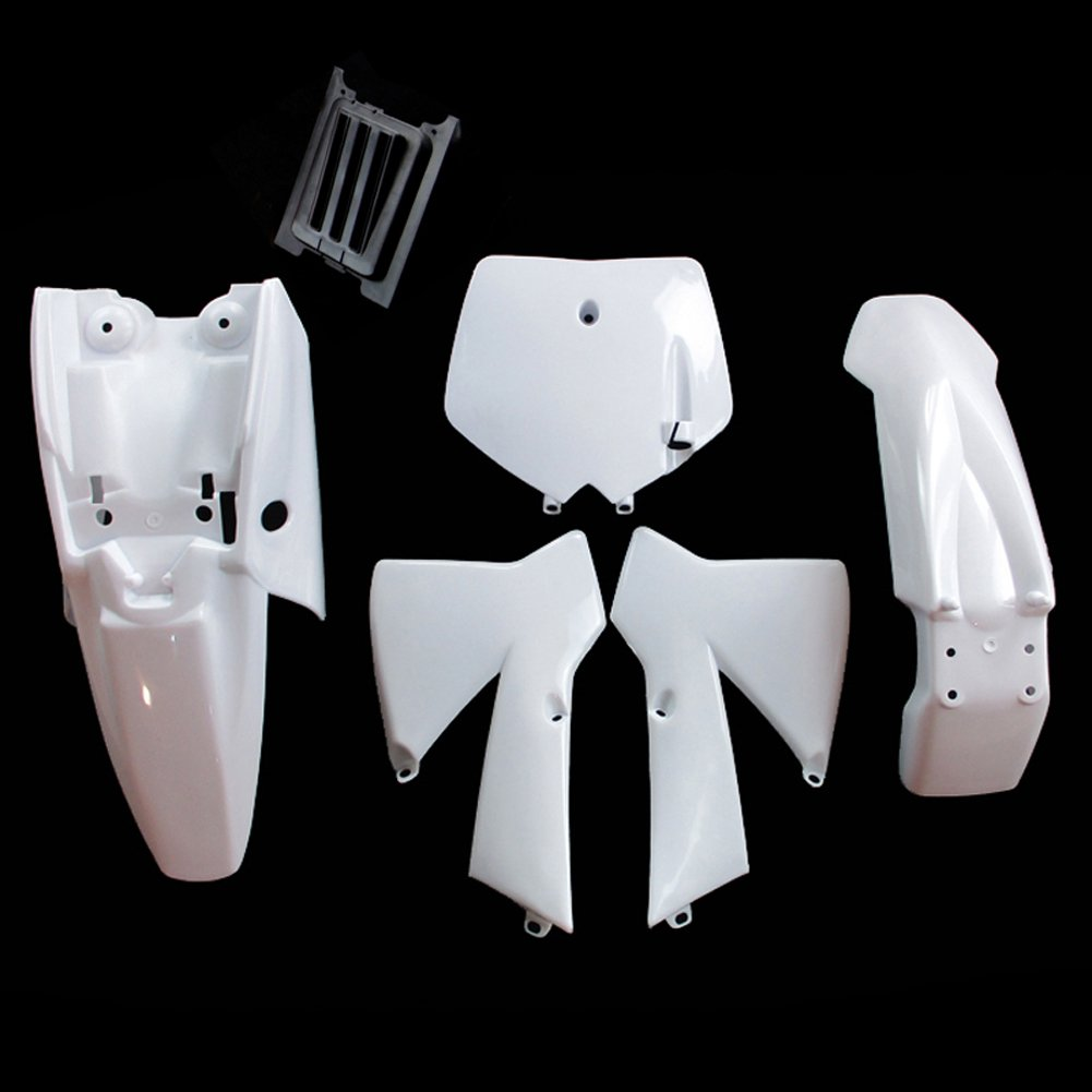 TC-Motor White Plastic Body Work Fender Fairing Kit For KTM50 MTK50 MT50 KTM 50cc Dirt Bike Mini Senior Junior Adventure SX SR JR