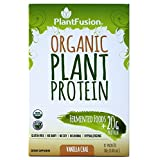 Cheap PlantFusion Organic Plant Based Protein & Fermented Foods Powder, Vanilla Chai, 1.06 oz  Single Serving Packet, 12 Count, USDA Organic, Vegan, Gluten Free