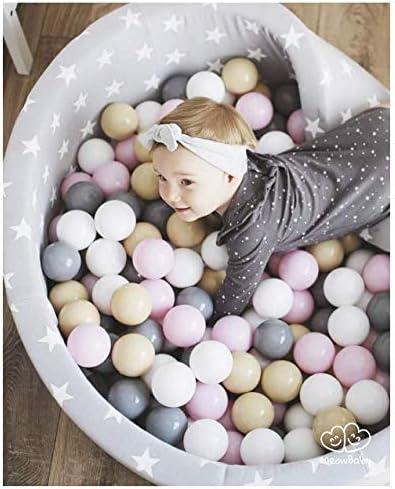 MEOWBABY 50 /∅ 7Cm Kinder B/älle Spielb/älle F/ür B/ällebad Baby Plastikb/älle Made In EU Blau//Grau//Schwarz