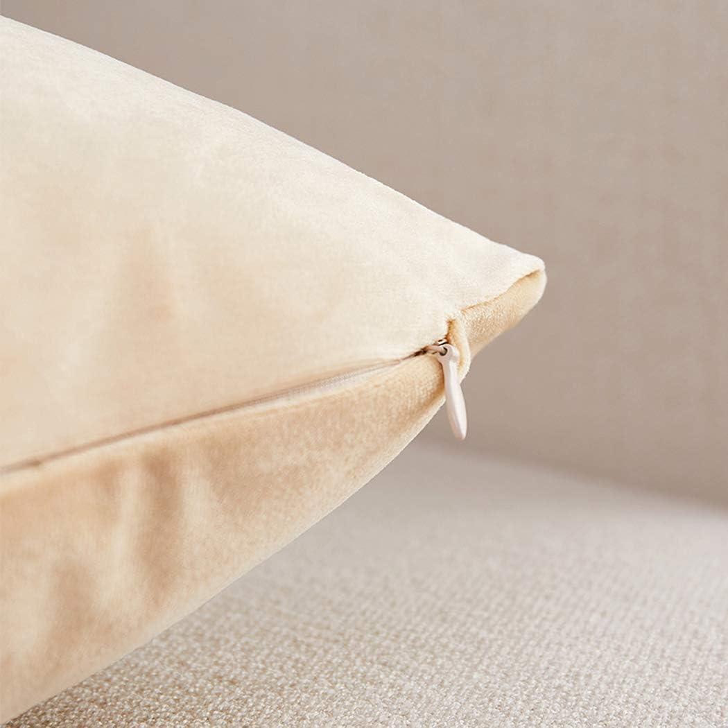 Brfash Housses de Coussin en Couleur Unie Super Doux Peluche Home Decor Taie doreiller Decoration Maison Salon Chambre pour Sofa Beige 12x18//30X45CM