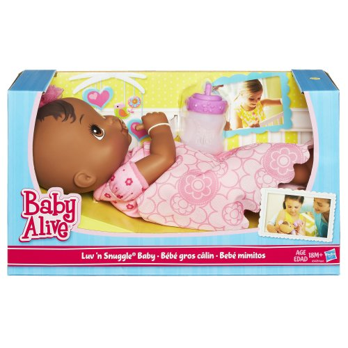 Baby Alive Luv N Snuggle Baby Doll African American With