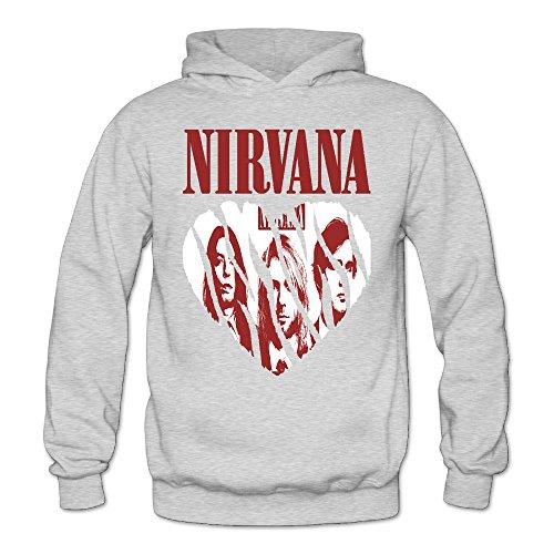 MARC Women's Nirvana Music Band Hooded Sweatshirt Ash Size XL ()