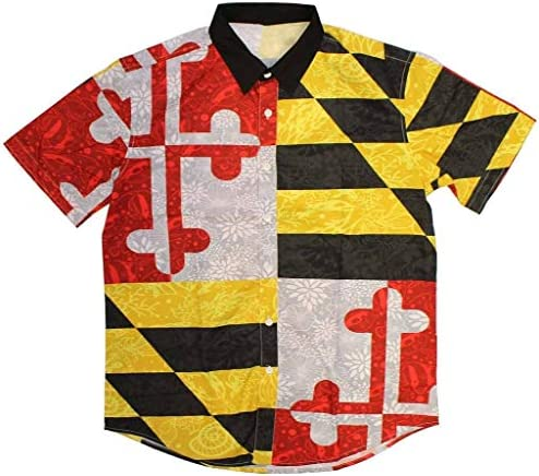 Route One Apparel | Maryland Flag Nautical Shells Hawaiian Shirt