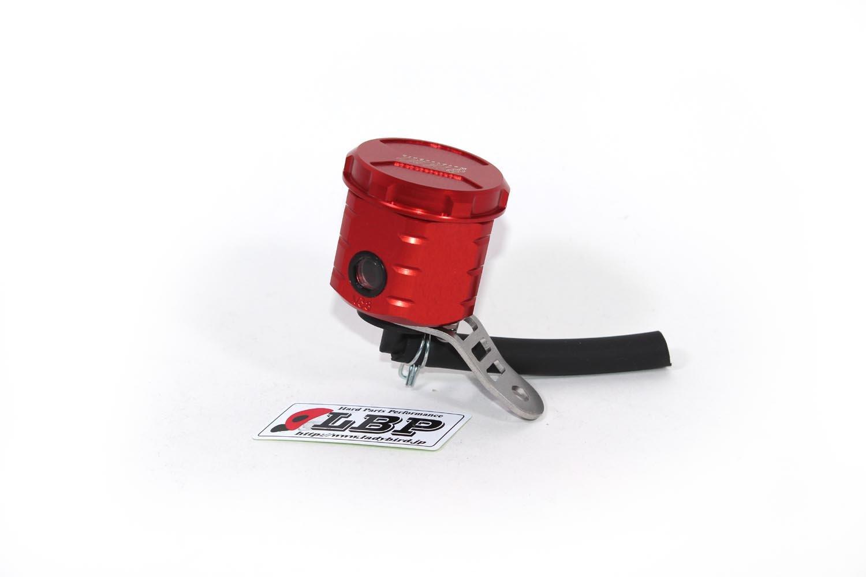 GSG Mototechnik ( ) 製 Kawasaki ZX 10R 2006y'~2007y' / ZX 6R 2006y'~2007y'年式 モデル用 フロント ブレーキ マスター リザーバー オイル タンク アルミ削り出し RED (赤色) アルマイト 仕上げ   B00CY3X3EQ