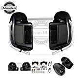 US STOCK! Advanblack Vivid/Glossy Black Rushmore Lower Vented Fairings Kit 6.5 inch Speaker Pods Fit for Harley Davidson Street Glide Road King Road Glide 2014-2019