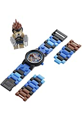 """LEGO Kids' 8020080 """"Legends of Chima Lennox"""" Watch with Link Bracelet and Figurine"""