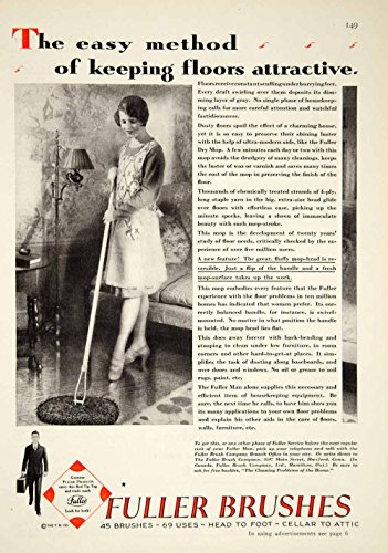 1929 Ad Fuller Brushes Mop Twenties Housewife Household Cleaning Floors YGH1 - Original Print Ad from PeriodPaper LLC-Collectible Original Print Archive