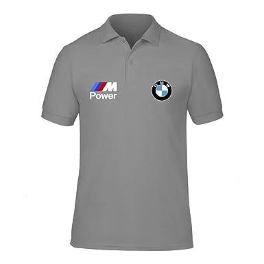 New Men  s BMW Power Logo M Sport High Qualität Polo Hals T-Shirts ... 083f125057