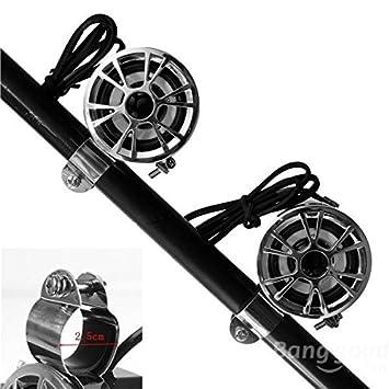 Adaalen Motorcycle Stereo Speaker Handlebar Waterproof Dirt Bike Atv