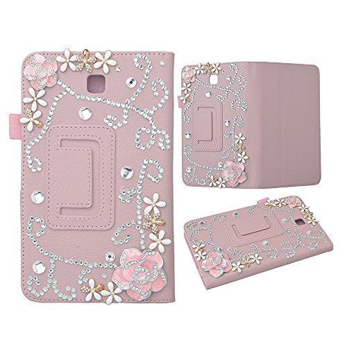 [Bling case] for Galaxy Tab 4 7.0 T230,Evtech(tm) Bling Crystal Rhinestone Case for Samsung Galaxy Tab 4 7.0 T230 Folio Case - Slim Fit Premium Vegan Leather Cover for Samsung Tab 4 7-Inch Tablet
