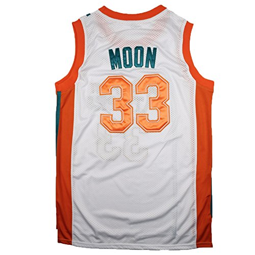 "JerseyFame Men's Jersey Jackie Moon #33 ""Flint Tropics"" Basketball Jersey White S-XXL"