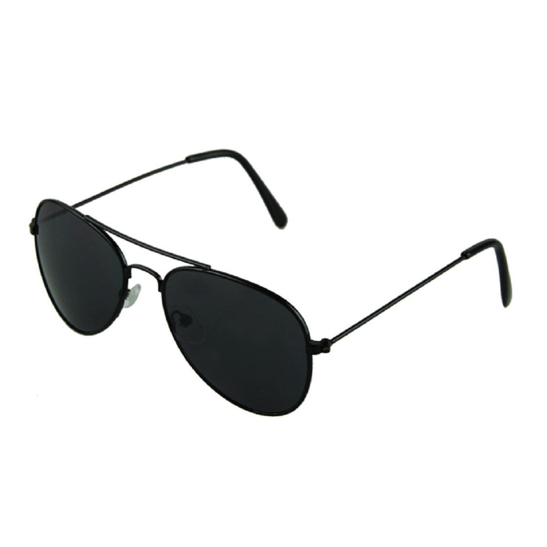 Mchoice New Cool Fashion Mercury Ultraviolet-proof Baby Children Kids Boy Girl Goggles Metal Frame Child Sunglasses (Black)