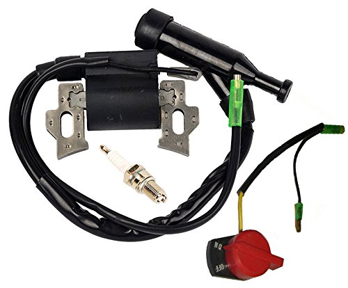 HIFROM On Off Engine Stop Switch with Ignition Coil for Honda GX120 GX160 GX200 Replace 36100-ZE1-015 36100-883-005