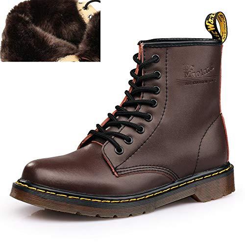 Brown Mocassini Stivaletti Fur Inverno Per Pelle Autunno Martens Uomo Caldo Oxford Stivali Scarpe Moto Fhcgmx In aqA6gwt