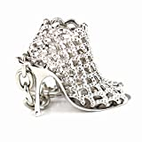 Best Keychain For Key Women - Maycom Silver High-heeled Shoe Keychain Creative Fashion Refinement Review
