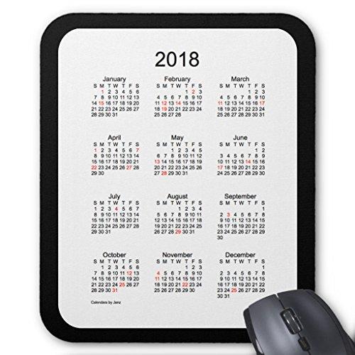 Zazzle 2018 Black Holiday Calendar by Janz Mouse Pad -