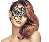 duoduodesign Exquisite High-end Lace Masquerade Mask (Black/Half/Soft Version)