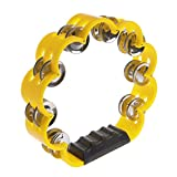 Misright Creative Percussion Flower Shape Jingles Handheld Musical Tambourine Drum Party Gift Toy