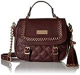 BCBG PARIS Handbag Quilted-Cross Body Bag,Stylish Bag, Regular Size, Burgundy
