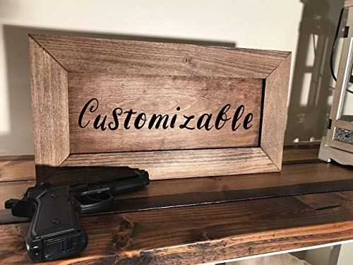 - Hidden Gun Storage Farmhouse Style Pine Cabinet Early American | Customizable Hand Painted Front