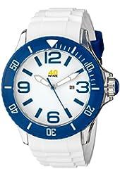 40Nine Men's 40NINE01/BLUE3 Extra Large White Watch