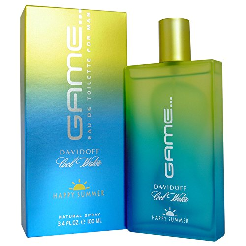 Happy Summer Perfume (Cool Water Game Happy Summer By Davidoff For Men Edt Spray 3.4 Oz)