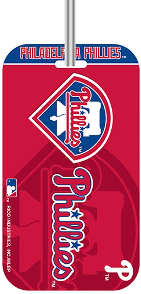 Rico Industries MLB Philadelphia Phillies KeychainKeychain Luggage Tag Team Colors One Size