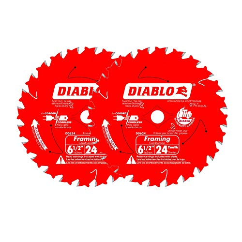 "Diablo 6-1/2"" x 24-Tooth ATB Framing Saw Blade with for sale  Delivered anywhere in USA"