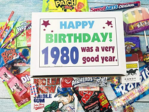 Woodstock Candy ~ 1980 41st Birthday Ideas ~ Retro Decade 80s Candy Gag Gift Basket Box Assortment From Childhood…