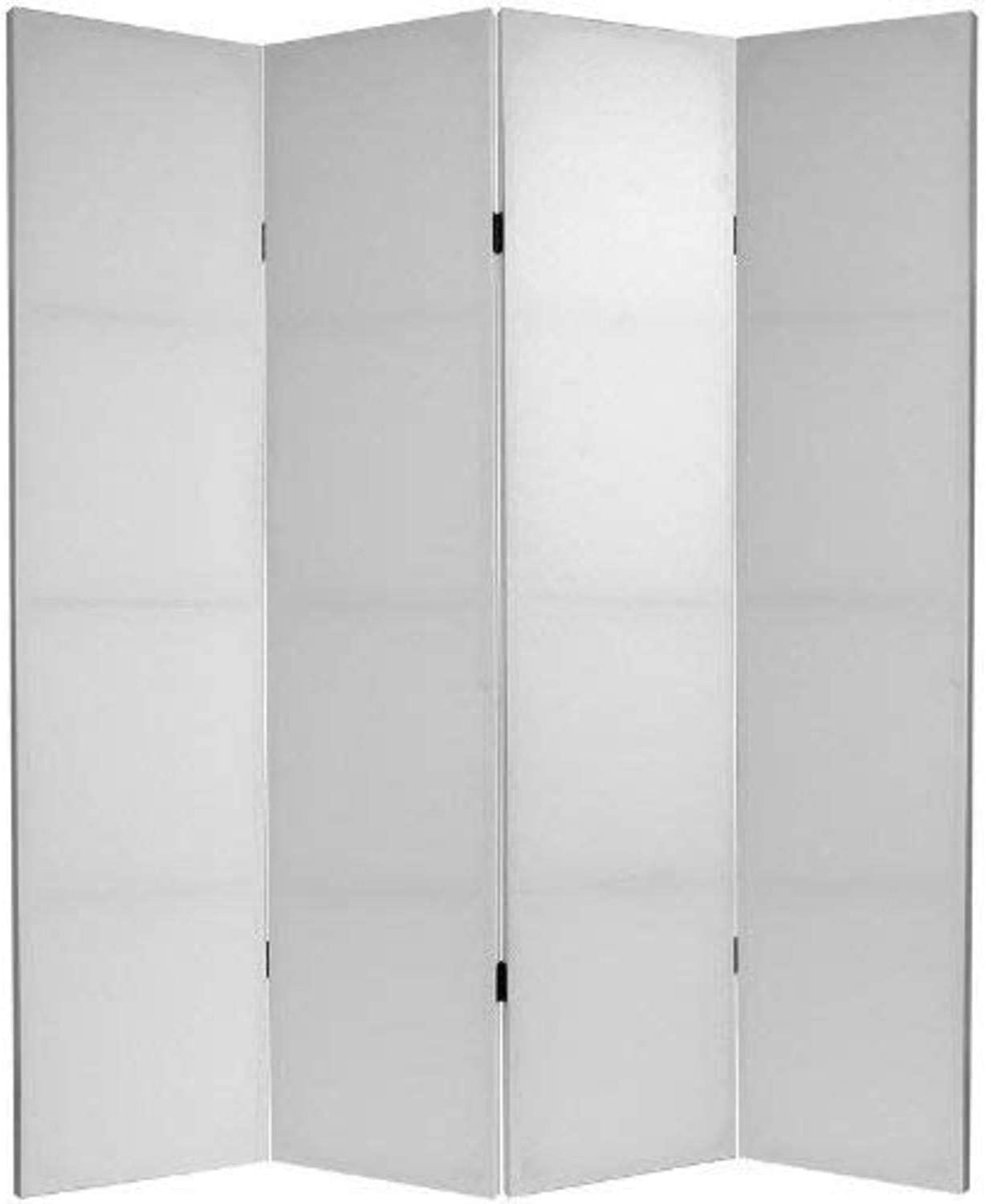 Oriental Furniture 6 ft. Tall Do It Yourself Canvas Room Divider 4 Panel