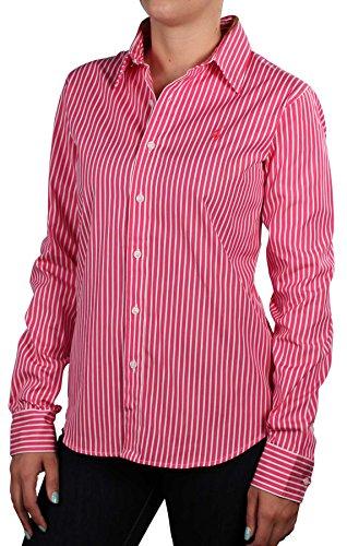 Polo Ralph Lauren Women's Striped Button Down Dress Shirt-{a.AMZColor}-4