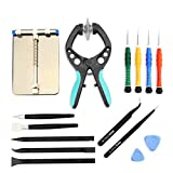 LCD Screen Opening Pliers Opening Repair Tool Kit with PCB Fixtures, ESD Tweezers, Opening Pry Tools, Screwdrivers, Scraper Knife and Carving Knife for cell phone and electronic products maintenance
