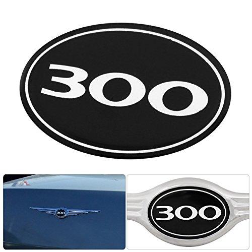 (For Chrysler 300 300C Rear Grille Grill Logo Emblem Gel Sticker Replacement)