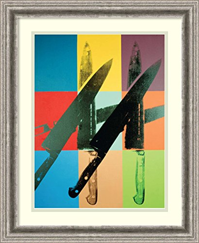 Framed Art Print 'Knives, 1981-82' by Andy (Andy Warhol Knives)