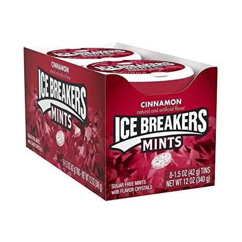 ICE BREAKERS Sugar Free Mints, Cinnamon, 1.5 Ounce (Pack of 8)