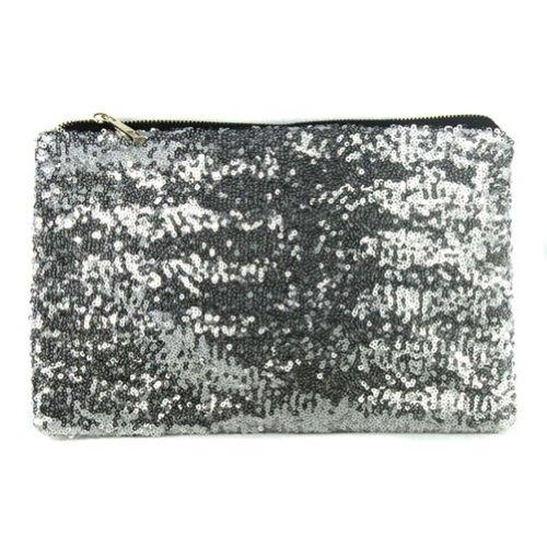 fiesta de bolsa de Monedero lentejuelas Bolso embrague cartera de de espiral brillo mano noche de TOOGOO de plata de Bolso deslumbra R tqWp8z