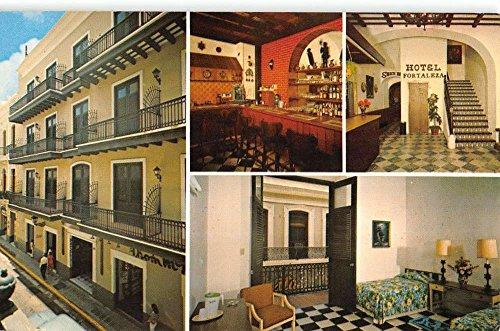 San Juan Puerto Rico Hotel Fortaleza Multiview Vintage Postcard K39394