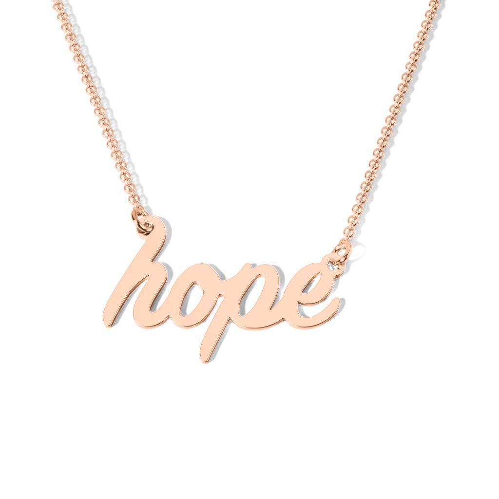 14K Gold Have Hope Necklace by JEWLR