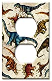 Outlet Cover Wall Plate - Dinosaur Toss