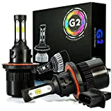 hummer h3 lights - JDM ASTAR G2 8000 Lumens Extremely Bright CSP Chips H13 9008 All-in-One LED Headlight Bulbs Conversion Kit, Xenon White