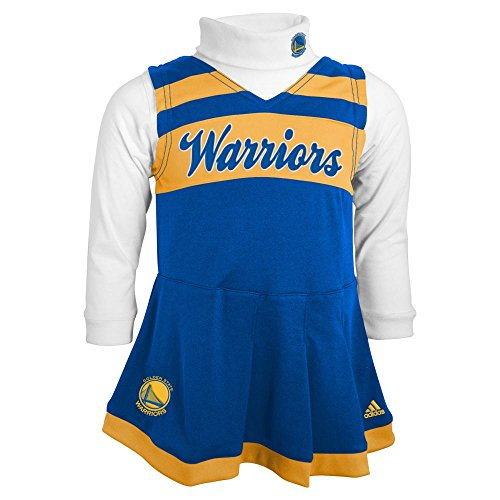[NBA Golden State Warriors Infant/Toddler Cheerleading Dress, 24 Months] (Cheerleader Outfit For Girls)