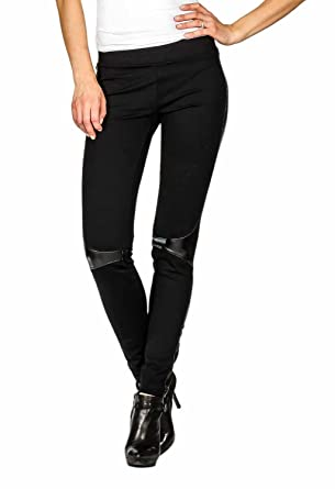 5b6b376b091b2 Suko Women's Super Soft Ponte Knit Skinny Legging Pants - Black ...