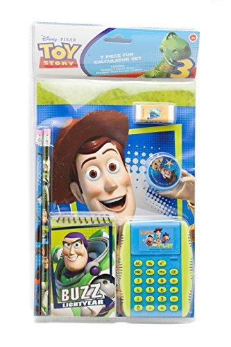 (Disney Toy Story 7 Piece Set Calculator Pencil Sharpener Eraser Notebook)
