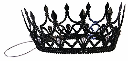 Forum Novelties Party Supplies Dark Royalty Queen Crown, Black, Standard, Multi