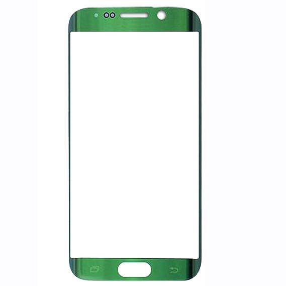 UU FIX Display Glas Front für Ersatz Samsung Galaxy S6 Edge (Grün) LCD Touch Screen Front Glas mit Werkzeugsatz(Keine Berühru