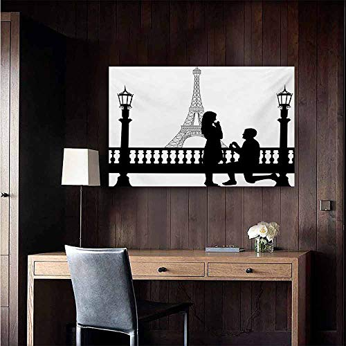 duommhome Engagement Party Chinese Classical Oil Painting Paris Love Valentines City Wedding Proposal Future Happiness Image for Living Room Bedroom Hallway Office 20