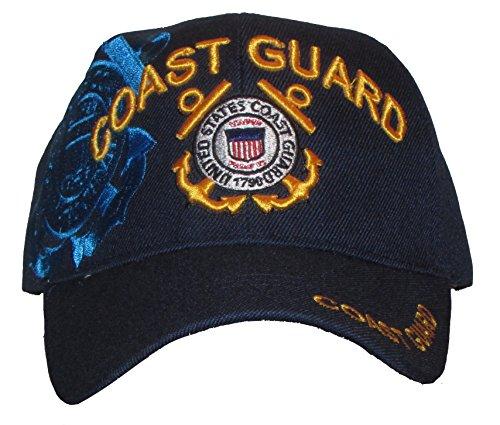 - Embroidered U.S. Army Veteran Marine Navy Air Force Military U.S. Warriors Baseball Cap Hat (COAST GUARD)