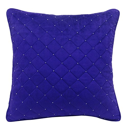 S4Sassy Decorative Hand Beaded Quilted Cushion Cover Case Ro